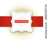 happy birthday greeting card... | Shutterstock .eps vector #680290714