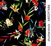 seamless background pattern.... | Shutterstock .eps vector #680297686