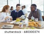 businessman using digital table ...   Shutterstock . vector #680300374