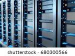 network server room with...   Shutterstock . vector #680300566