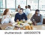 young business entrepreneurs... | Shutterstock . vector #680300578