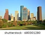 houston downtown skyline at... | Shutterstock . vector #680301280