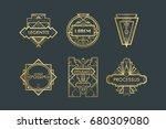 art deco vector labels | Shutterstock .eps vector #680309080
