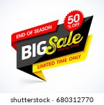 big sale banner. end of season... | Shutterstock .eps vector #680312770