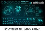 futuristic virtual graphic... | Shutterstock .eps vector #680315824