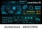 futuristic virtual graphic...   Shutterstock .eps vector #680315896