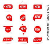 new tag icon.   Shutterstock .eps vector #680317678