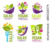 vector collection of healthy... | Shutterstock .eps vector #680318374