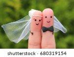 fingers art of happy couple to...   Shutterstock . vector #680319154