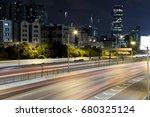long exposure of highway with... | Shutterstock . vector #680325124