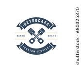 car auto service logo template... | Shutterstock .eps vector #680325370