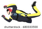 skydiver performing skydiving... | Shutterstock .eps vector #680333500