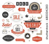 sale badges and tags design... | Shutterstock .eps vector #680334283