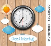 good morning concept design.... | Shutterstock .eps vector #680335210