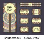 business cards  invitations and ...   Shutterstock .eps vector #680336959