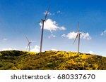 Wind Power Plants Shot In Costa ...