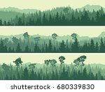 horizontal abstract banners of... | Shutterstock .eps vector #680339830