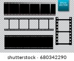 set of vector film strip... | Shutterstock .eps vector #680342290