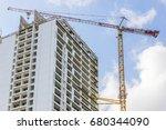 tower crane jib above... | Shutterstock . vector #680344090
