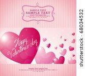 valentine background 03 | Shutterstock .eps vector #68034532