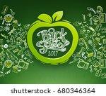 back to school horizontal... | Shutterstock . vector #680346364