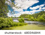 bridge and cloudscape at apple... | Shutterstock . vector #680346844