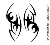 tribal tattoo art designs.... | Shutterstock .eps vector #680348614