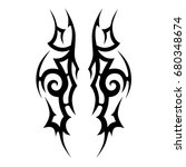 tribal tattoo art designs.... | Shutterstock .eps vector #680348674