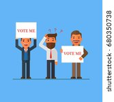 businessman who wants his vote | Shutterstock .eps vector #680350738