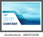 seascape and blue sky... | Shutterstock .eps vector #680351038