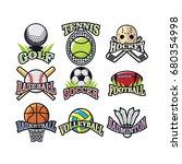 9 sport emblem logo icon vector   Shutterstock .eps vector #680354998