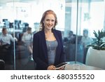 portrait of smiling... | Shutterstock . vector #680355520