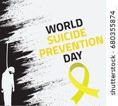 world suicide prevention day ... | Shutterstock .eps vector #680355874
