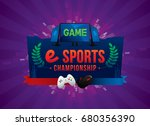 vector of electronic sports...   Shutterstock .eps vector #680356390