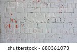 old white brick wall for grunge ... | Shutterstock . vector #680361073