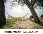 loungers on thailand beach  ... | Shutterstock . vector #680365324