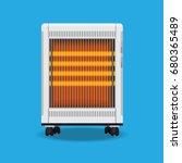 electric heater vector flat... | Shutterstock .eps vector #680365489