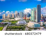miami  florida  usa downtown... | Shutterstock . vector #680372479