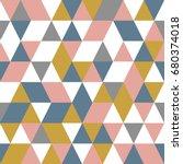 seamless geometric pattern.... | Shutterstock .eps vector #680374018