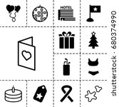 holiday icon. set of 13 filled...   Shutterstock .eps vector #680374990