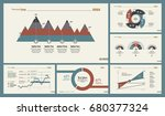 six analytics charts slide... | Shutterstock .eps vector #680377324