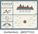 six planning slide templates set | Shutterstock .eps vector #680377414