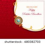elegant rakhi for brother and... | Shutterstock .eps vector #680382703