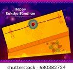 elegant rakhi for brother and... | Shutterstock .eps vector #680382724