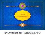 elegant rakhi for brother and... | Shutterstock .eps vector #680382790