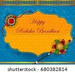 elegant rakhi for brother and... | Shutterstock .eps vector #680382814