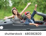 happy young lover couple... | Shutterstock . vector #680382820