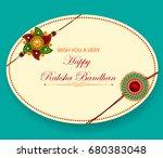 elegant rakhi for brother and... | Shutterstock .eps vector #680383048