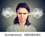 closeup portrait of angry young ... | Shutterstock . vector #680386483