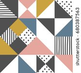 geometric pattern. abstract... | Shutterstock .eps vector #680387563